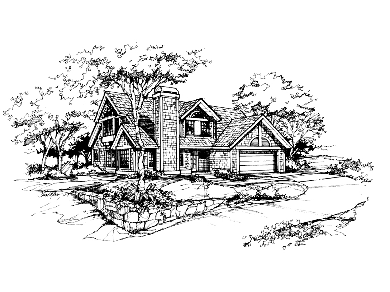 Country House Plan Front of Home - 072D-0390 | House Plans and More