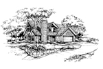 Traditional House Plan Front of Home - 072D-0390 | House Plans and More