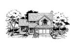 Contemporary House Plan Front of Home - 072D-0392 | House Plans and More