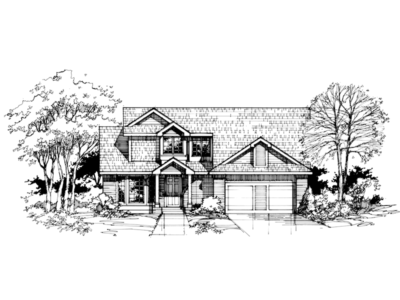 Southern House Plan Front of Home - 072D-0394 | House Plans and More