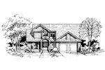 Modern House Plan Front of Home - 072D-0394 | House Plans and More