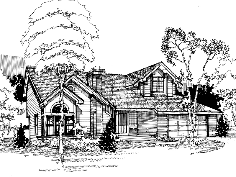 Traditional House Plan Front of Home - 072D-0395 | House Plans and More