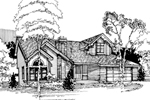 Contemporary House Plan Front of Home - 072D-0395 | House Plans and More