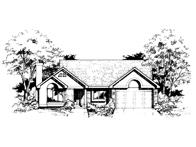 Southern House Plan Front of Home - 072D-0396 | House Plans and More