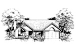 Contemporary House Plan Front of Home - 072D-0396 | House Plans and More