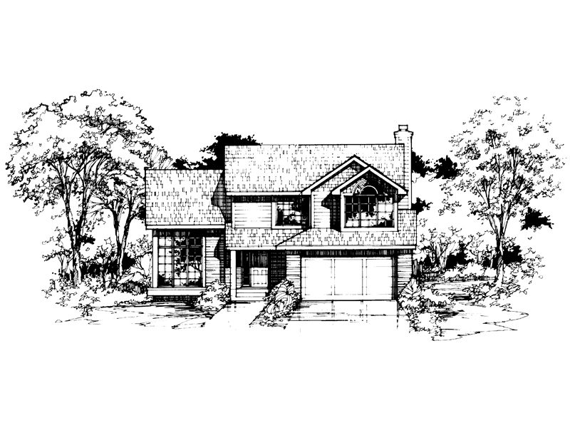 Contemporary House Plan Front of Home - 072D-0397 | House Plans and More