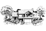 Traditional House Plan Front of Home - 072D-0397 | House Plans and More