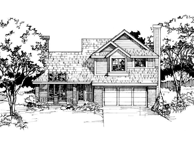 Modern House Plan Front of Home - 072D-0398 | House Plans and More