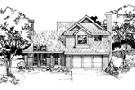 Country House Plan Front of Home - 072D-0398 | House Plans and More