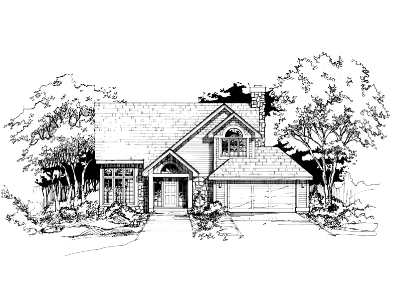 Modern House Plan Front of Home - 072D-0399 | House Plans and More