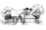 Contemporary House Plan Front of Home - 072D-0399 | House Plans and More