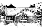Traditional House Plan Front of Home - 072D-0401 | House Plans and More