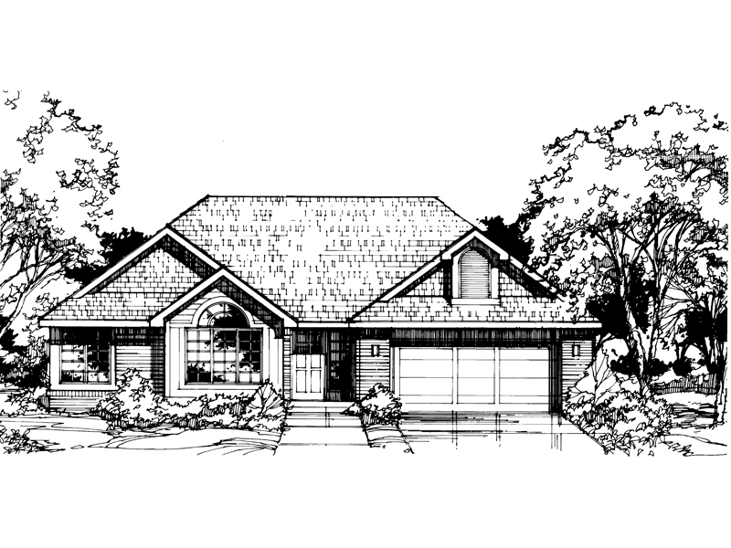 Southern House Plan Front of Home - 072D-0402 | House Plans and More