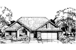 Contemporary House Plan Front of Home - 072D-0402 | House Plans and More