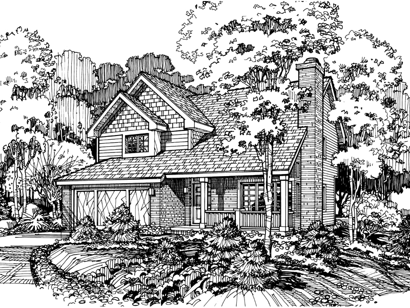 Shingle House Plan Front of Home - 072D-0403 | House Plans and More
