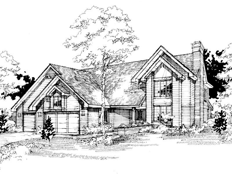 Contemporary House Plan Front of Home - 072D-0405 | House Plans and More