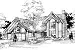Modern House Plan Front of Home - 072D-0405 | House Plans and More