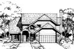 Contemporary House Plan Front of Home - 072D-0406 | House Plans and More