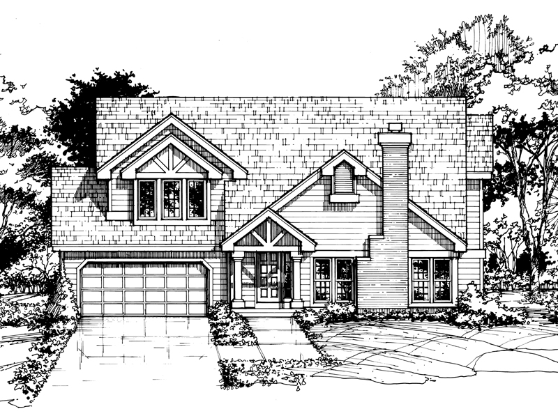 Contemporary House Plan Front of Home - 072D-0407 | House Plans and More