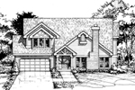 Bungalow House Plan Front of Home - 072D-0407 | House Plans and More