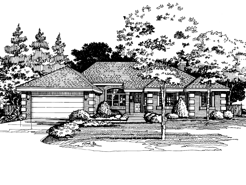 Traditional House Plan Front of Home - 072D-0408 | House Plans and More