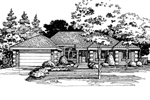 Ranch House Plan Front of Home - 072D-0408 | House Plans and More