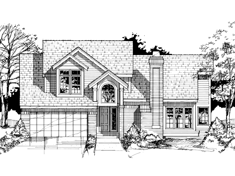 Modern House Plan Front of Home - 072D-0409 | House Plans and More