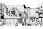 Contemporary House Plan Front of Home - 072D-0409 | House Plans and More