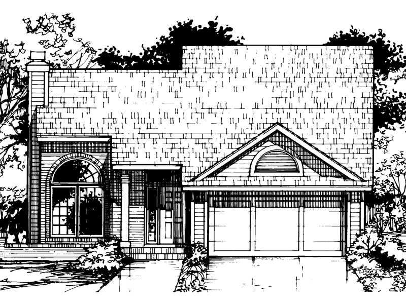Traditional House Plan Front of Home - 072D-0410 | House Plans and More
