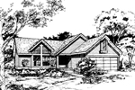 Southern House Plan Front of Home - 072D-0411 | House Plans and More