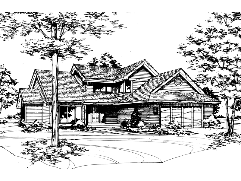 Traditional House Plan Front of Home - 072D-0412 | House Plans and More