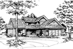 Southern House Plan Front of Home - 072D-0412 | House Plans and More