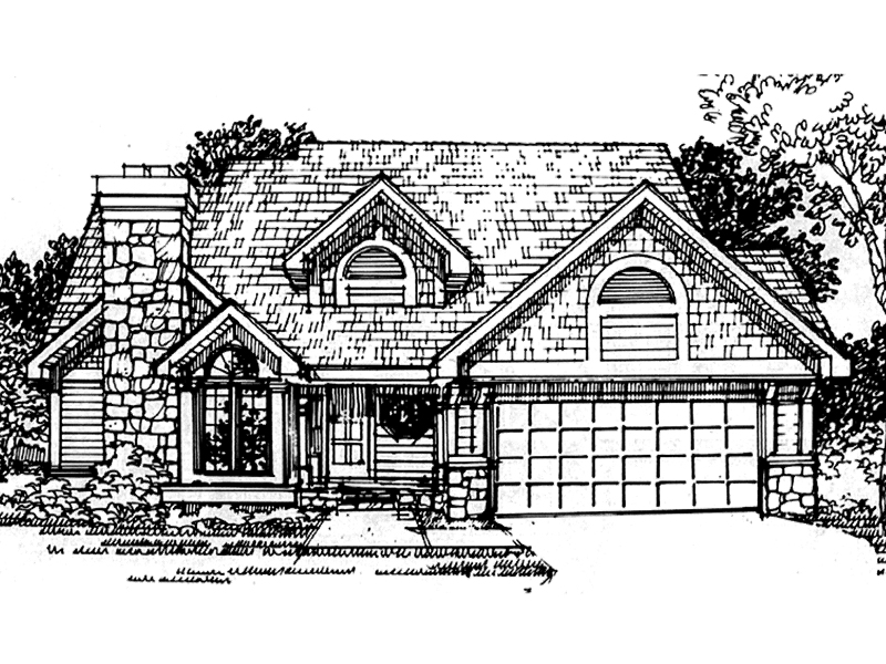 Southern House Plan Front of Home - 072D-0413 | House Plans and More