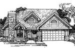 Bungalow House Plan Front of Home - 072D-0413 | House Plans and More