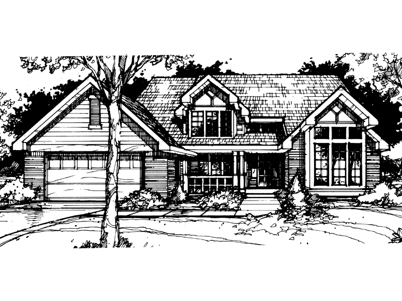 Country House Plan Front of Home - 072D-0415 | House Plans and More