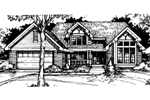 Traditional House Plan Front of Home - 072D-0415 | House Plans and More