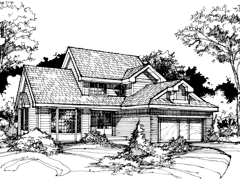 Southern House Plan Front of Home - 072D-0416 | House Plans and More