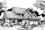 Contemporary House Plan Front of Home - 072D-0416 | House Plans and More