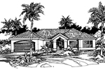 Santa Fe House Plan Front of Home - 072D-0417 | House Plans and More