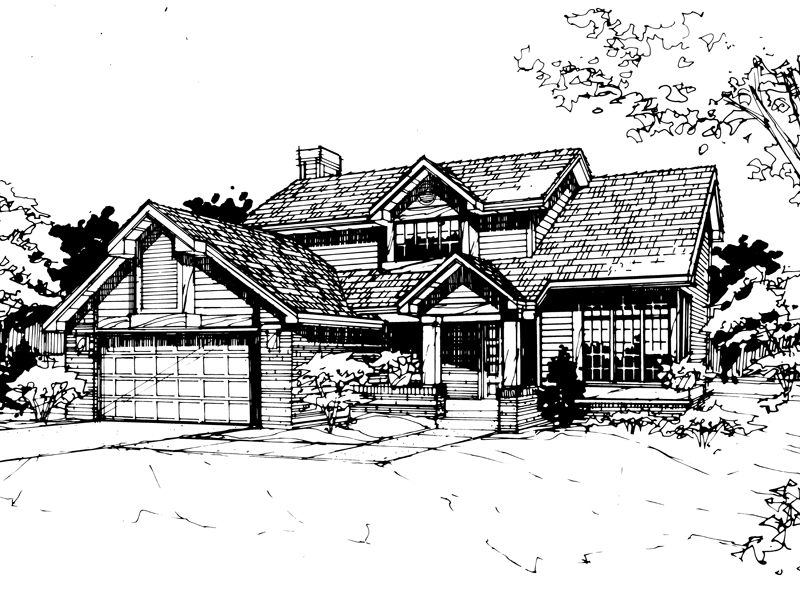 Contemporary House Plan Front of Home - 072D-0418 | House Plans and More