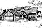Traditional House Plan Front of Home - 072D-0418 | House Plans and More