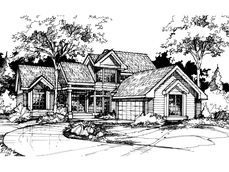 Traditional House Plan Front of Home - 072D-0419 | House Plans and More