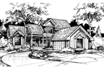 Modern House Plan Front of Home - 072D-0419 | House Plans and More