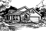 Traditional House Plan Front of Home - 072D-0420 | House Plans and More