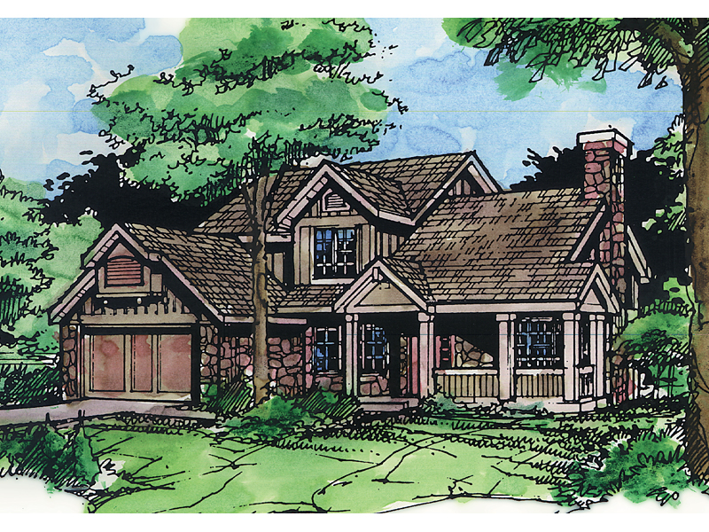 Craftsman House Plan Front of Home - 072D-0422 | House Plans and More