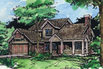 Arts and Crafts House Plan Front of Home - 072D-0422 | House Plans and More