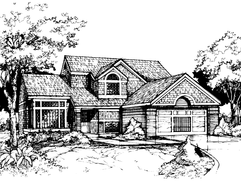 Modern House Plan Front of Home - 072D-0423 | House Plans and More