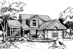 Bungalow House Plan Front of Home - 072D-0423 | House Plans and More