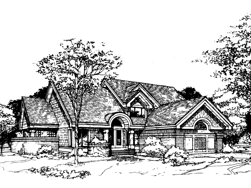 Contemporary House Plan Front of Home - 072D-0424 | House Plans and More