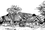 Traditional House Plan Front of Home - 072D-0424 | House Plans and More